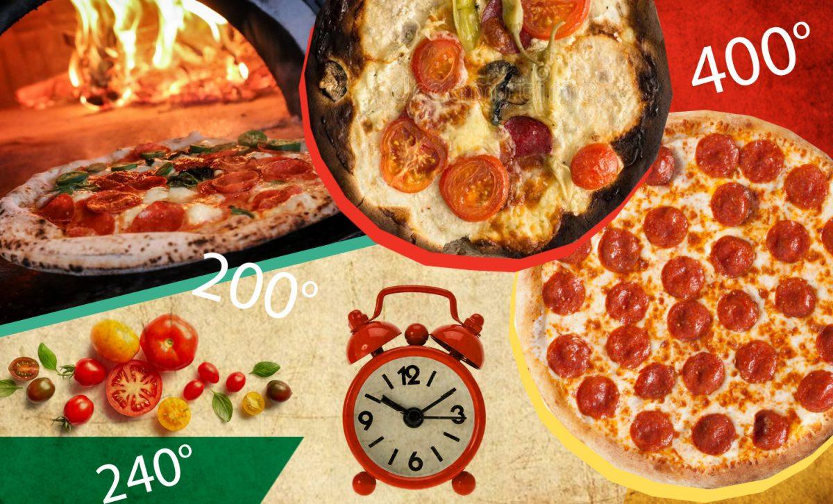 при скольких градусах печь пиццу